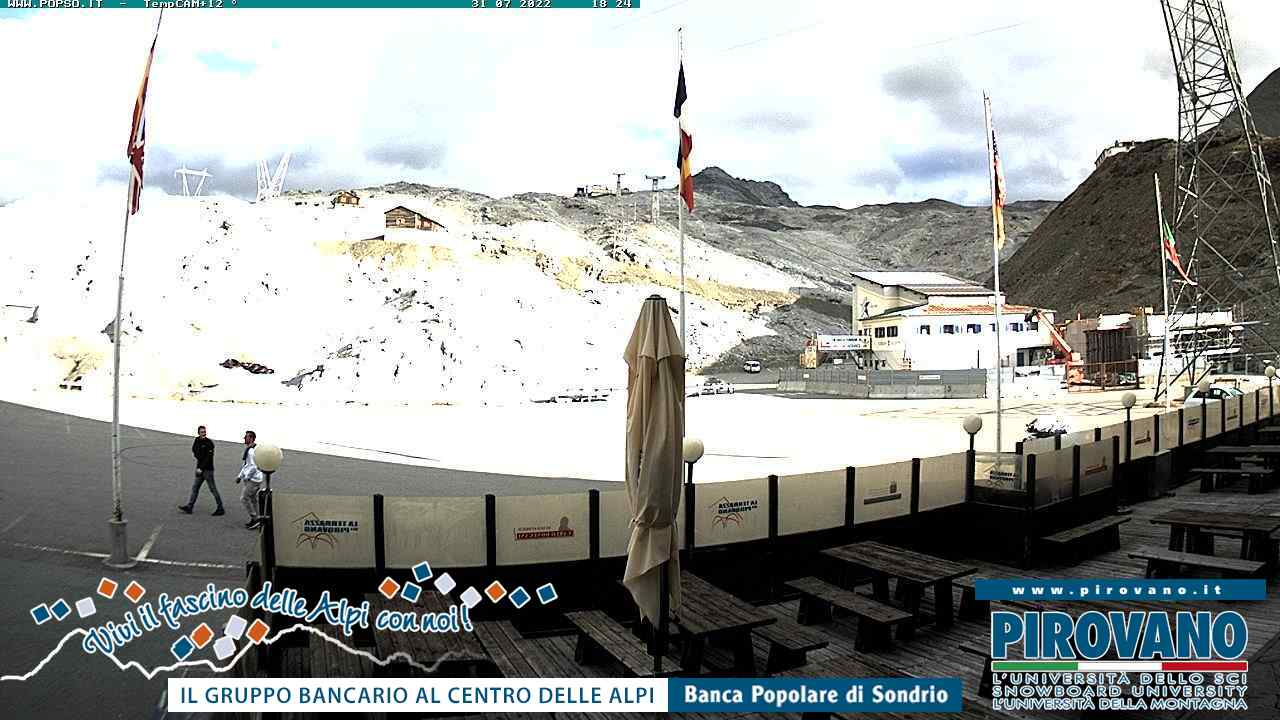 Webcam - Dal Passo verso le piste di sci, sul ghiacciaio