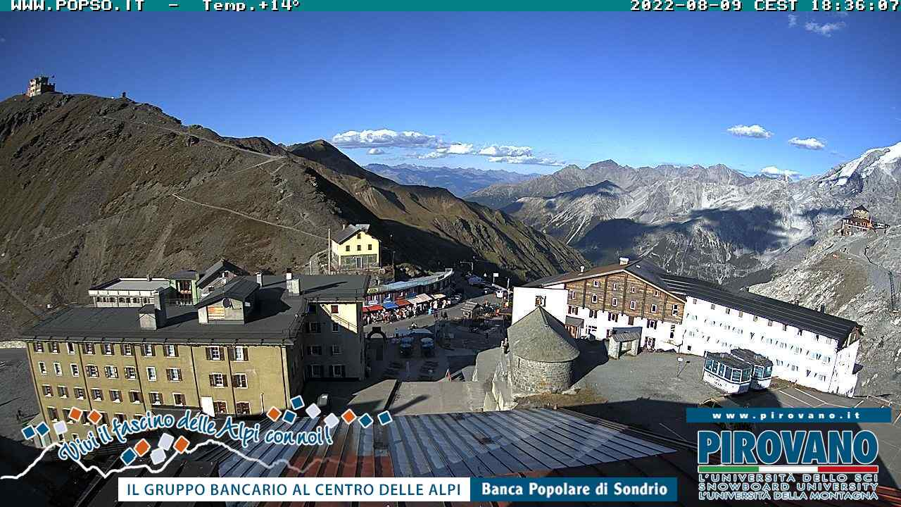 Webcam - Stelvio pass from Pirovano roof