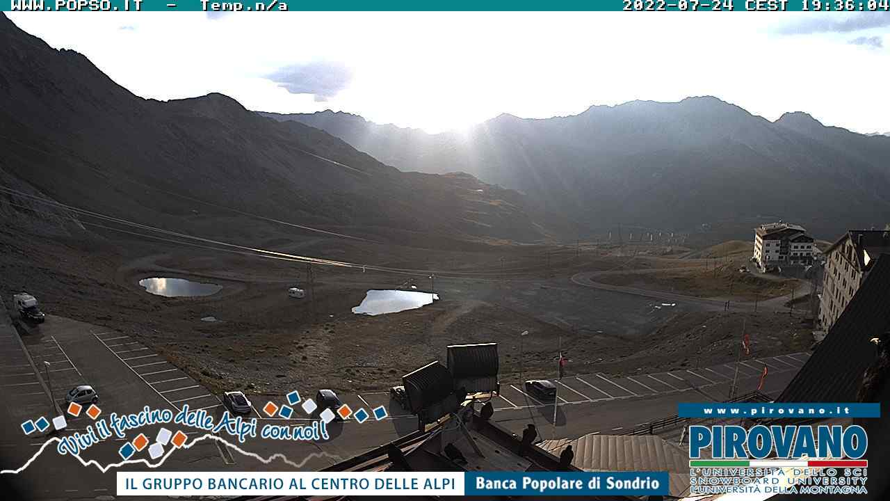 Webcam Passo dello Stelvio 2758 mt s.l.m. Live webcamera