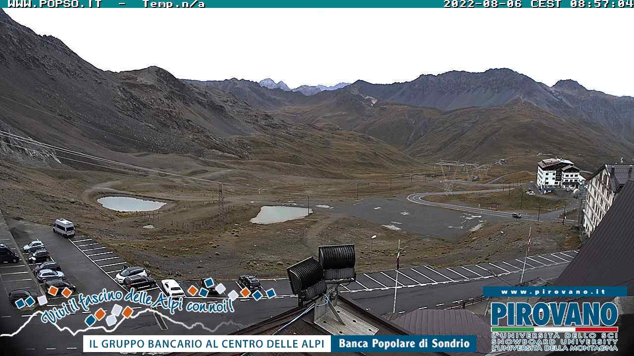Webcam - Stelvio pass towards South Tyrol
